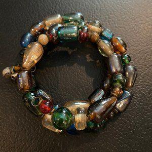 Jewelry - Glass bead Memory Wire Bracelet
